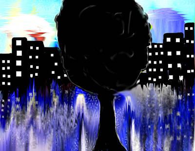Dark City Print by Paula Brown