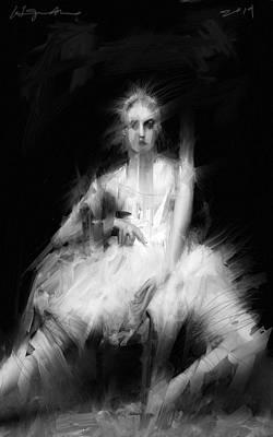 Black Swans Painting - Dark Dancer by H James Hoff