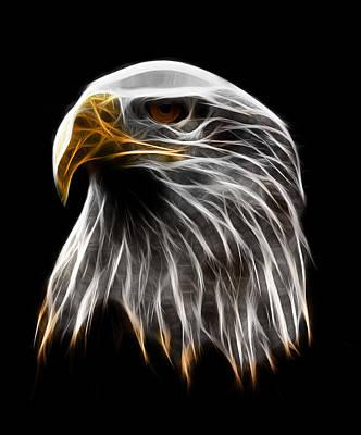 America Digital Art - Dark Eagle by - BaluX -