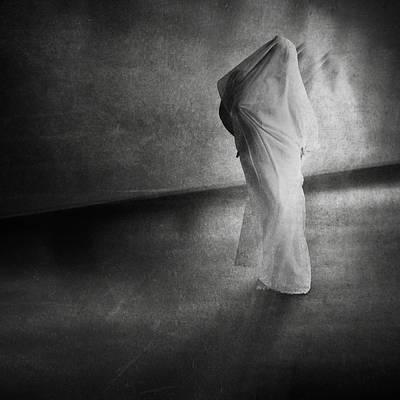 Semi-nude Photograph - Dark Hallway by Erik Brede