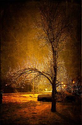 Dark Icy Night Print by Sofia Walker