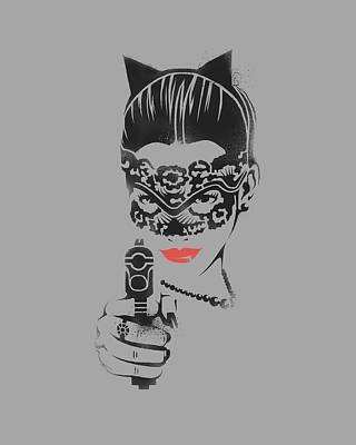 Dark Knight Rises Digital Art - Dark Knight Rises - Cat Gun by Brand A