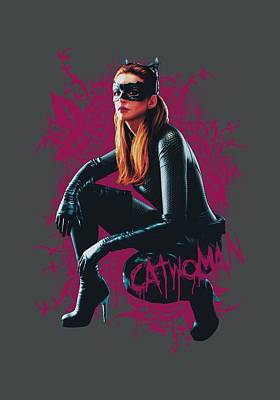 Dark Knight Rises Digital Art - Dark Knight Rises - Catwoman Roses by Brand A