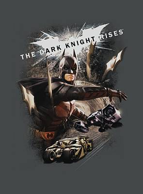 Dark Knight Rises Digital Art - Dark Knight Rises - Imagine The Fire by Brand A