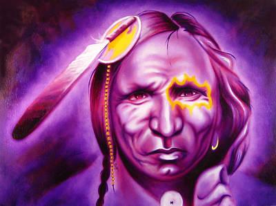 Chicano Art Painting - Dark Night by Robert Martinez