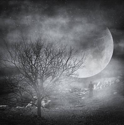Surreal Photograph - Dark Night Sky Paradox by Taylan Soyturk