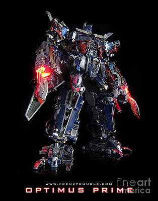 Gnaw Mixed Media - Dark Of The Moon Optimus Prime by Frenzyrumble