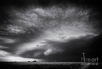 Prairie Storm Photograph - Dark Prairie by Dan Jurak