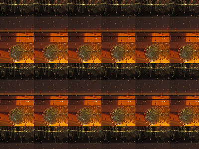 Texture Photograph - Dark Shades Of Brown With Jewel Sparkle Pattern Graphic by Navin Joshi