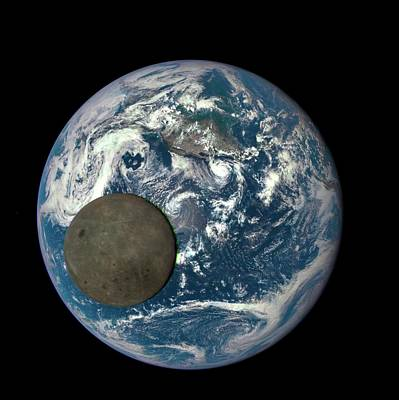 Dark Side Of The Moon Print by Nasa/ Dscovr Epic Team