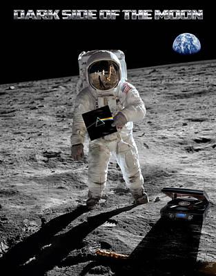 Astronauts Digital Art - Dark Side Of The Moon by Peter Chilelli