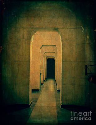Dark Sinister Hallway Print by Edward Fielding