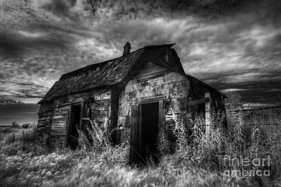 Surreal Barns Photograph - Dark Skies On The Prairie by Dan Jurak