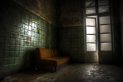 Dilapidated Digital Art - Dark Sofa by Nathan Wright