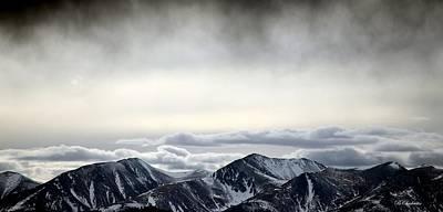 Dark Storm Cloud Mist  Print by Barbara Chichester