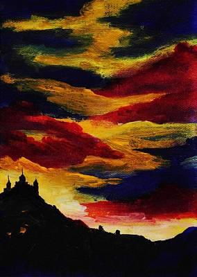 Dark Painting - Dark Times by Anastasiya Malakhova