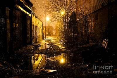 Ghetto Photograph - Dark Urban Alleyway by Denis Tangney Jr