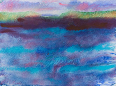 Wet Into Wet Watercolor Painting - Dark Water by Brook Powell