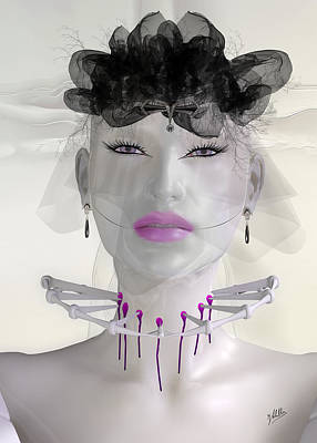 Robotics Mixed Media - Dark Will. The Murderous Widow. by Quim Abella