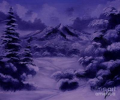 Snow Painting - Dark Winter by Collin A Clarke