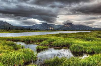 Darkening Alaska Lake Print by Ron Day