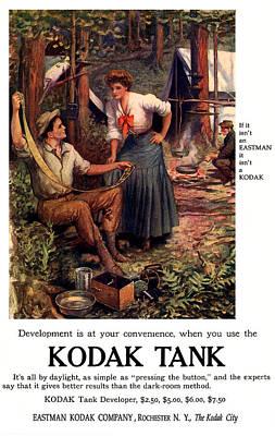 Darkroom In The Woods. Circa 1907.  Print by E Allen Gilbert