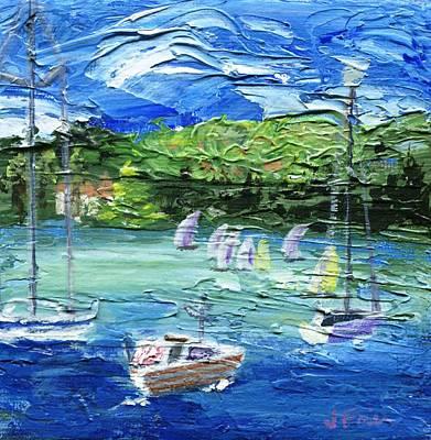 Pallet Knife Painting - Darling Harbor II by Jamie Frier