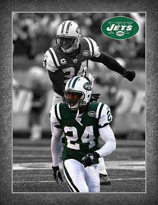 Darrelle Revis Jets Print by Joe Hamilton