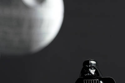 Darth And His Death Star Print by Samuel Whitton
