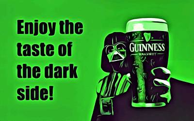 Beer Painting - Darth Drinks Guinness by Florian Rodarte