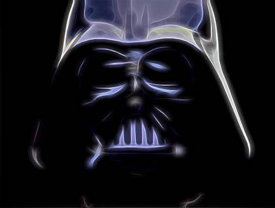 Dark Side Mixed Media - Darth Vader by Dan Sproul