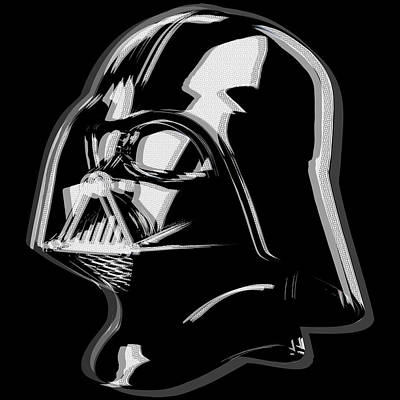 Dark Side Mixed Media - Darth Vader Star Wars by Tony Rubino