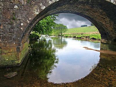 Green And Brown Photograph - Dartmoor Through The Bridge by Gill Billington