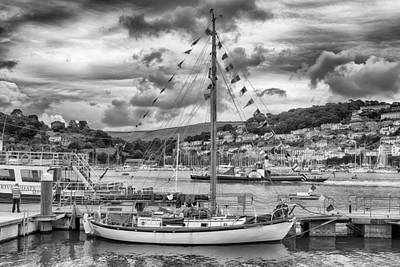 B Photograph - Dartmouth Harbor by Howard Salmon