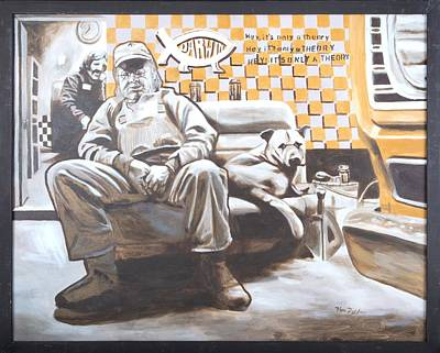 De Troy Painting - Darwin Evolution - Only A Theory Painting Art by Herb Van de Eau