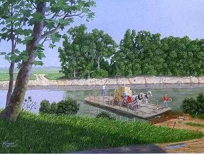 Darwin Painting - Darwin Ferry by C Robert Follett