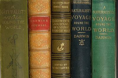 Beagle Photograph - Darwin Voyages Of The Beagle Book Covers by Paul D Stewart