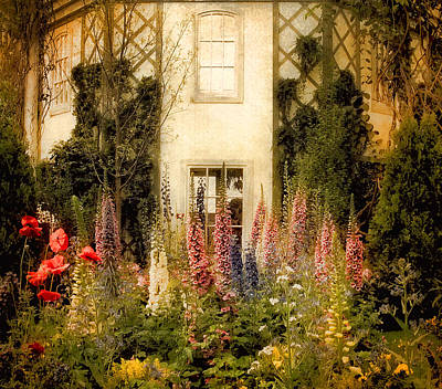 Charming Cottage Photograph - Darwin's Garden by Jessica Jenney