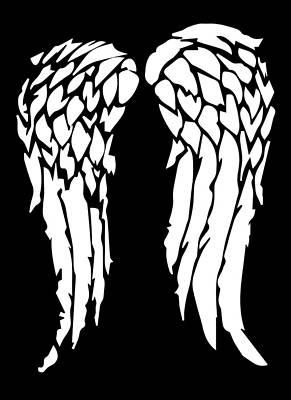 Fandom Digital Art - Daryl's Wings by Jera Sky