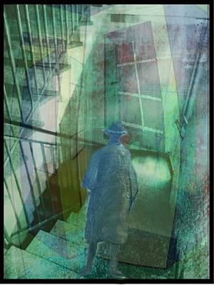 Treppenhaus Digital Art - Das Fenster Zu Flur by Gertrude Scheffler