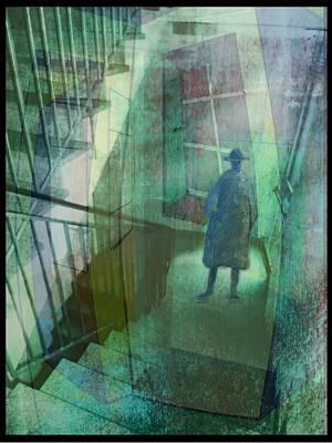 Treppenhaus Digital Art - Das Fenster Zum Flur  A by Gertrude Scheffler