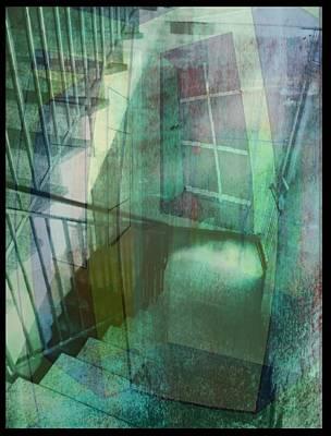 Treppenhaus Digital Art - Das Fenster Zum Flur  B by Gertrude Scheffler