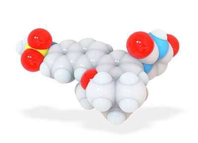 Dasabuvir Drug Molecule Print by Ramon Andrade 3dciencia
