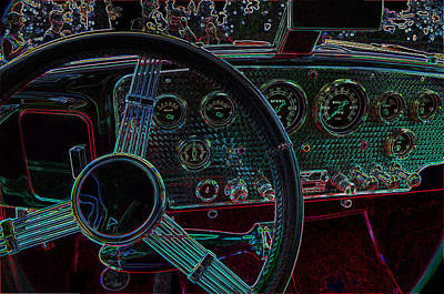 Dashboard 1936 Cord Automobile Print by Thom Zehrfeld
