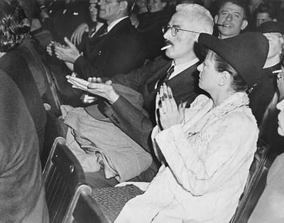 Applaud Photograph - Dashiell Hammett And Parker by Underwood Archives