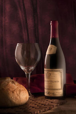 Wine-bottle Photograph - Date Night Still Life by Tom Mc Nemar