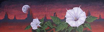 Datura Painting - Datura  Dream by Peter Nielsen