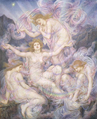 Mist Painting - Daughters Of The Mist by Evelyn De Morgan