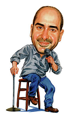 Humor. Painting - Dave Attell by Art
