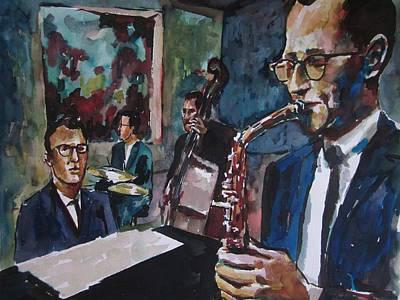 Dave Brubeck Quartet Print by Matthew OHanlon